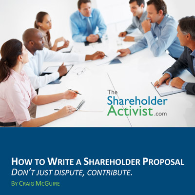 How To Write A Shareholder Proposal